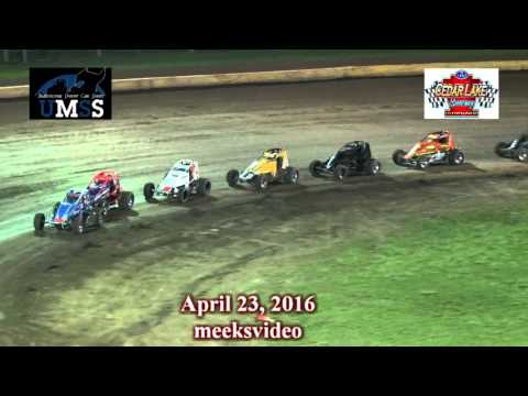 April 23, 2016 UMSS Non Wing Sprints Cedar Lake Speedway