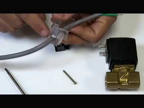 How to Wire a DIN Plug for Solenoid Coil - YouTube