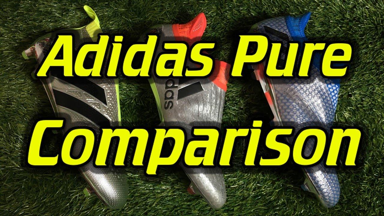 sports shoes 62a13 2b88a Adidas ACE 16+ PureControl vs X16+ PureChaos vs Messi 16+ PureAgility