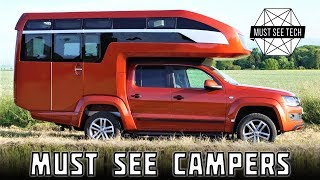 Top 7 NEW Motorhomes and Impressive Truck Bed Campers in 2018
