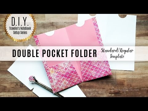 Scrapcraftastic Template: DIY Double Pocket Folder for Standard/Regular Size Traveler's Notebook