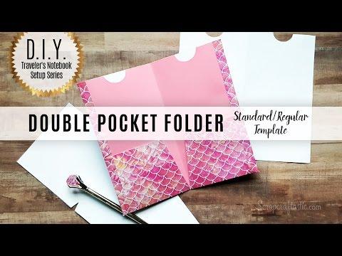 Scrapcraftastic Template: DIY Double Pocket Folder for Standard/Regular Size Traveler's Notebook