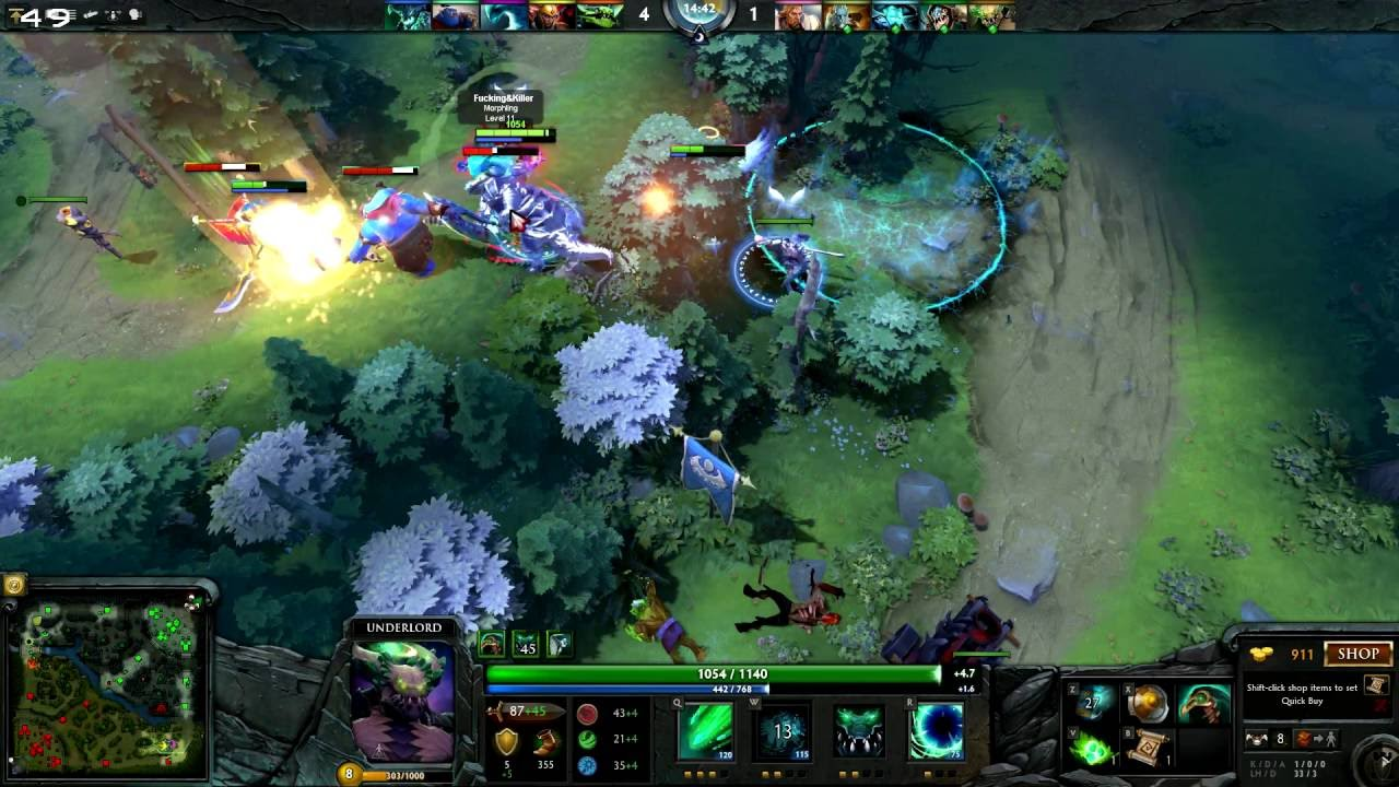 dota 2 underlord support gameplay online 5 vs 5 multiplayer