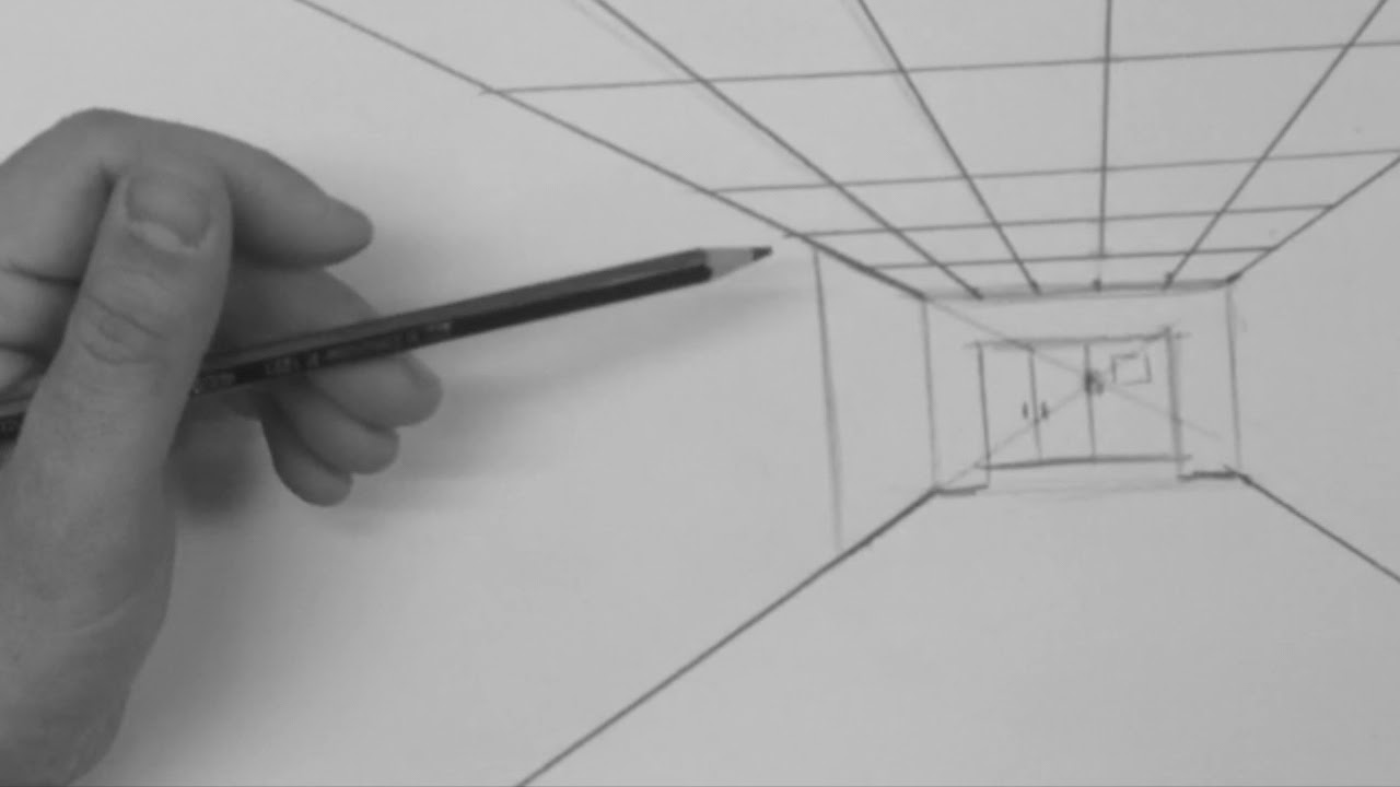 Hallway Drawing 1 Point Perspective Youtube