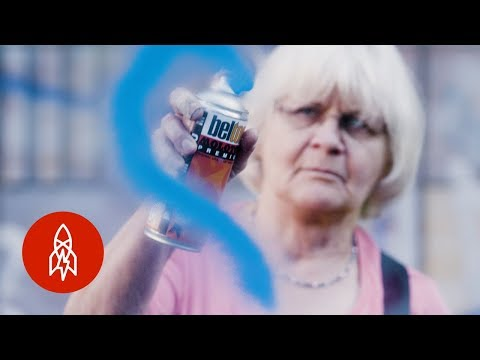 "Meet the 71-Year-Old ""Graffiti Grandma"" Scrubbing Away Hate"