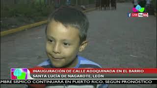 Inauguran calle adoquinada en el barrio Santa Lucía en Nagarote