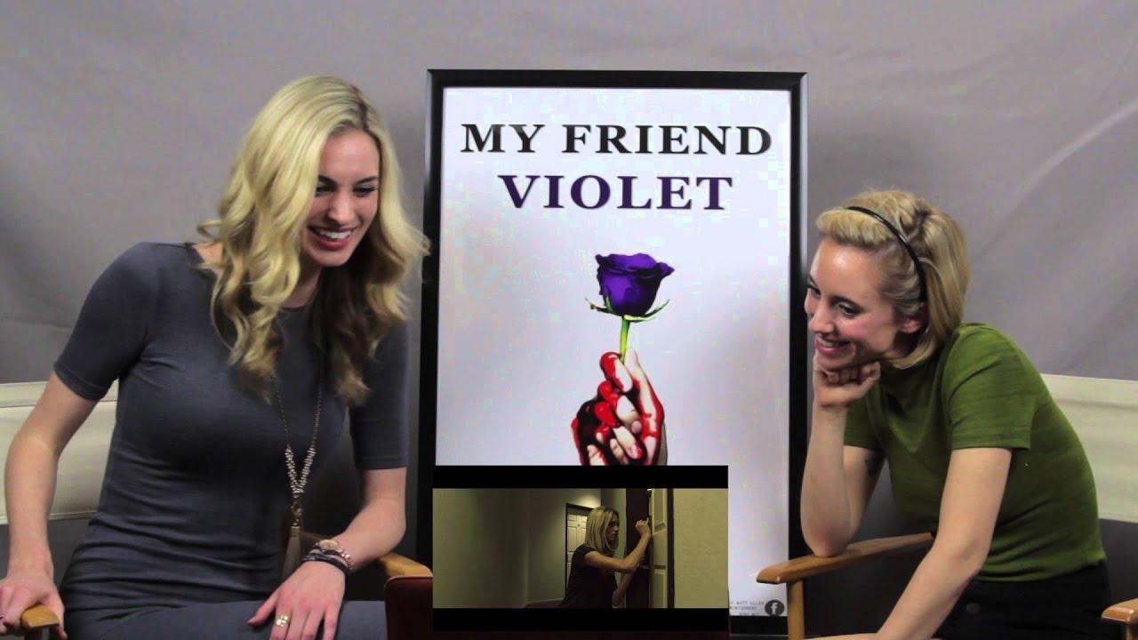 Allegra Edwards reagan james & allegra edwards react to my friend violet trailer