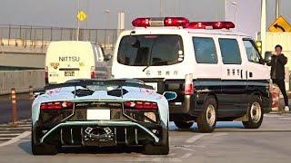 【辰巳PA】空吹かし爆発音他 スーパーカー加速サウンド/Supercars sound in Tatsumi. Aventador, GT4, 599GTO, F12, more