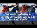 Spider-Man E3 2017 VS Final Build Side-by-Side Graphics Comparison