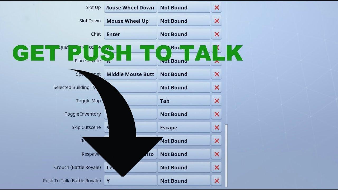 Push To Talk Fortnite Not Working | Fortnite V Bucks
