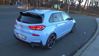 HYUNDAI i30N Performance crazy exhaust sound, pops and bangs in tunnel