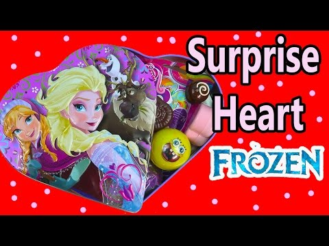 Queen Elsa Disney Frozen Princess Anna Valentines Day Heart Tin Toy Surprises Opening MLP