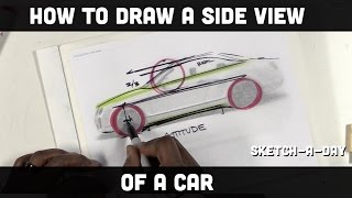 How to draw a car: Side view proportion
