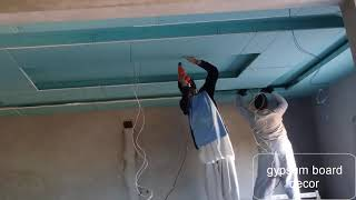gypsum board new  installaition || gypsum board installation materials