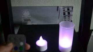 Vidéo bougie LED rechargeable multicouleur avec télécommande