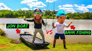 Jon Boat vs Bank Fisherman Challenge (1v1)