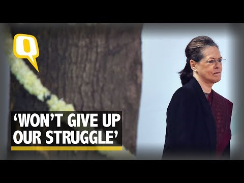 'We Won't Bow Down,' Says Sonia Gandhi in Farewell Address | The Quint