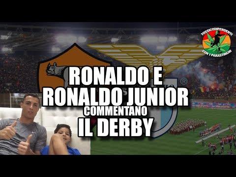 CR7 e Ronaldo Junior commentano Roma-Lazio [2-1] DERBY 18/11/2017