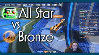 Bronze Player vs All-Star BOT | Hilarious Rocket League 1v1