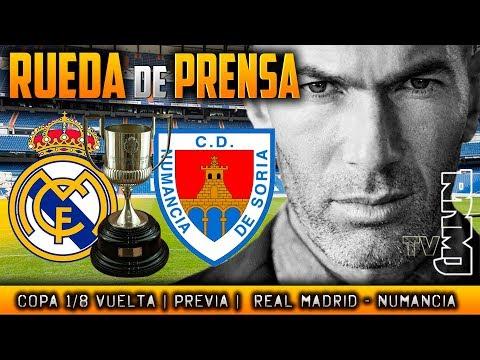 Rueda de prensa previa al Real Madrid - Numancia
