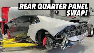 homepage tile video photo for Installing a Lamborghini Huracan Widebody Kit! [Part 1]
