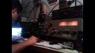 A92GE on 20 meters CW worked by PY2EL