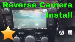 Reversing Camera Install (Canbus)