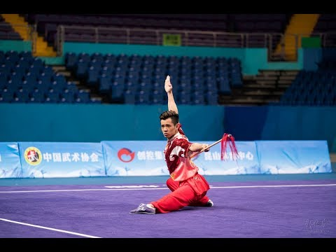 Men's Spear 男子枪术 第2名 江苏 李齐镇 9.66分 Jiang Su Li Qi Zhen