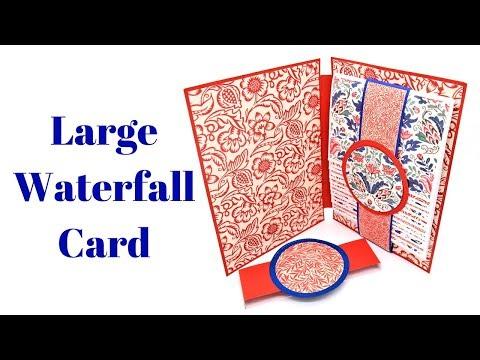 Large Waterfall Card or Mini Album | Creative Card Series 2018