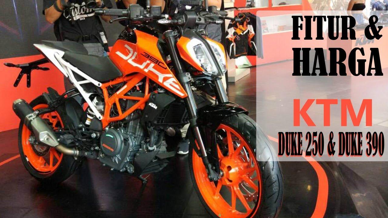 harga dan tampilan ktm duke 250 dan duke 390 di indonesia - youtube