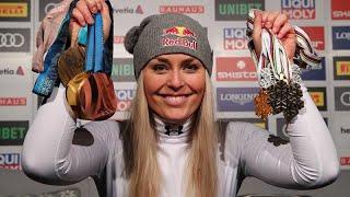 Lindsey Vonn takes bronze in her final alpine ski race