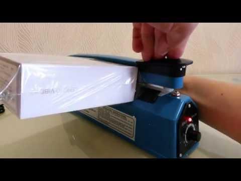 Инструкция по упаковке коробок в термоусадочную пленку.  FS-200