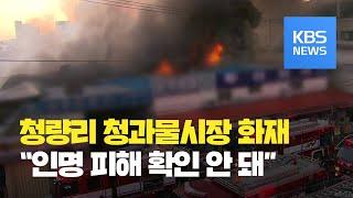 서울 청량리 청과물시장 대형 화재…대응 2단계 발령 (…