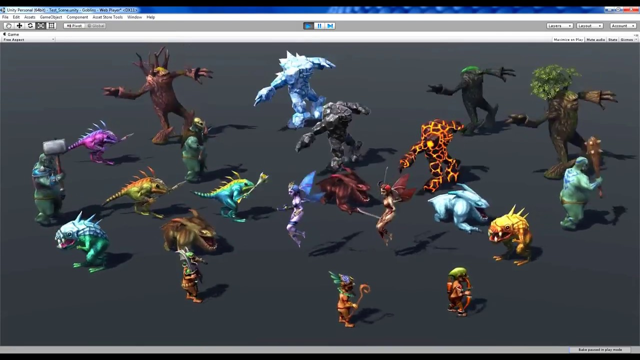Unity Asset Store Pack - Fantasy Characters & Creatures pack (Download link  below)