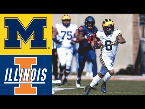 #16 Michigan vs Illinois Highlights | NCAAF Week 7 | College Football Highlights