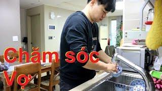 Hoon chăm sóc vợ (Hoon tự làm video này) (Cuộc sống Hàn Quốc)