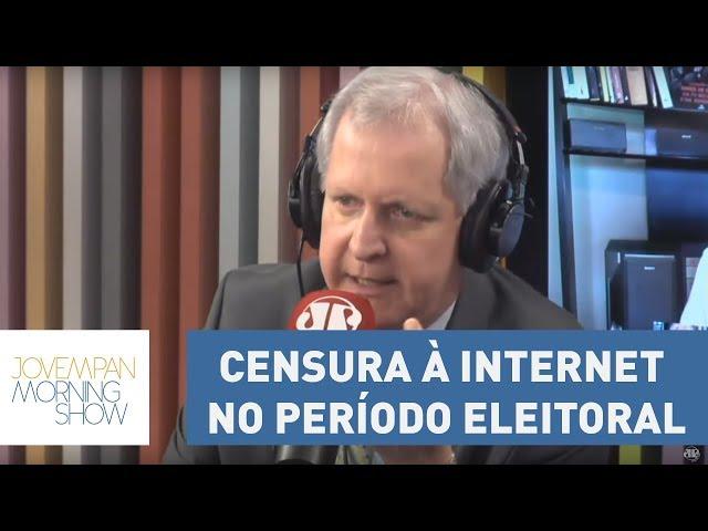 """Augusto Nunes repudia medida de censura à internet no período eleitoral: """"Eu vou ignorar essa lei"""""""