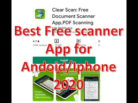 The Best And Easiest Free Scanner App For Android/Iphone IOS (2020)
