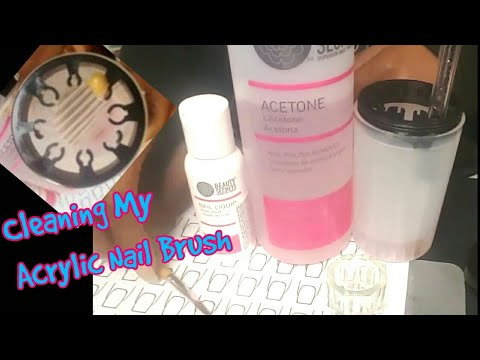 How I Clean My Acrylic Nail Brushes w/Nail Brush Cleaner Cup frm AliExpress