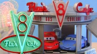 Flo's V8 Cafe Playset Cars From Radiator Springs Disney Pixar Mattel Toys Review By Blucollection