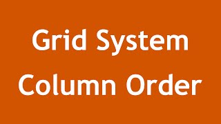 [ Twitter Bootstrap 3 In Arabic ] #09 - Grid System Column Ordering