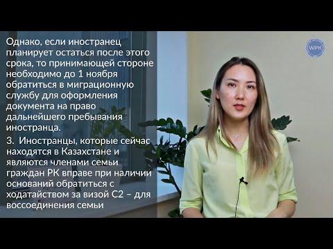 Продление срока пребывания иностранных граждан на территории РК, краткий обзор (сентябрь 2020 г.)