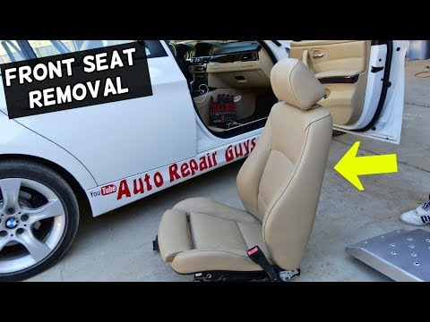 HOW TO REMOVE OR REPLACE FRONT SEAT ON BMW E90 E91 E92 E93