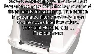 Catit Hooded Cat Litter Pan, White/Pink