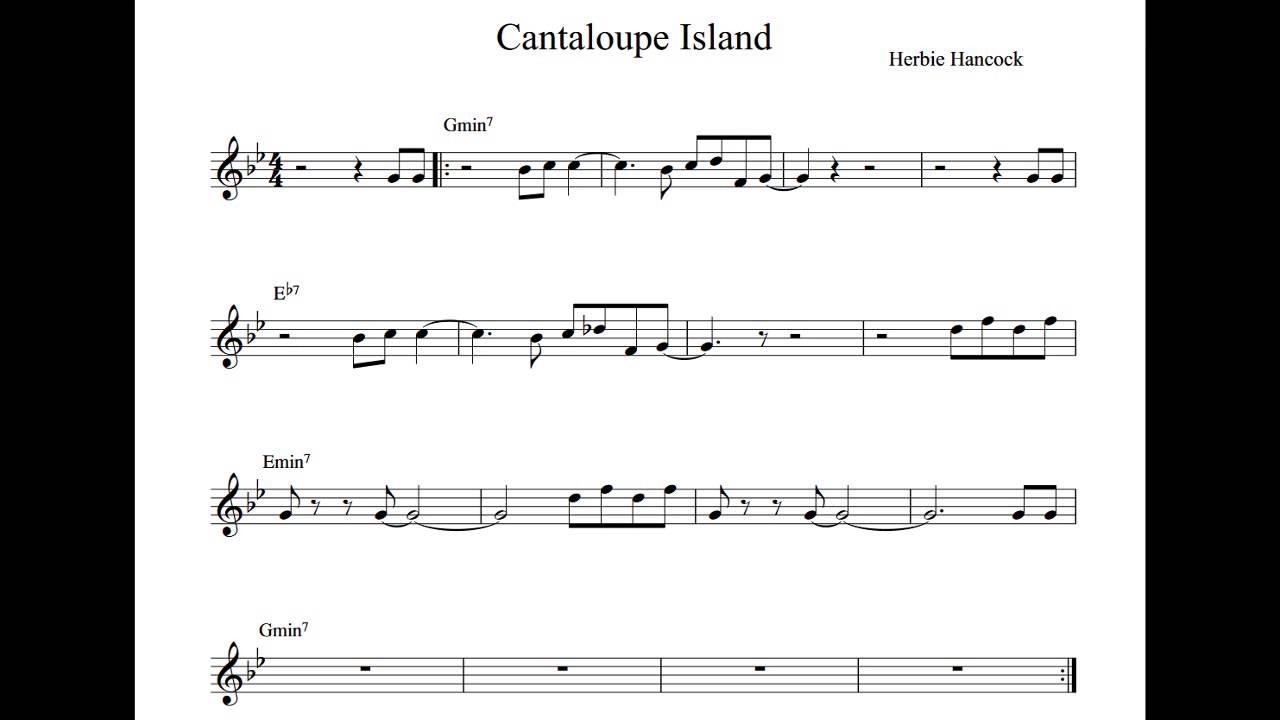 Cantaloupe Island Play Along Backing Track Bb Key Score Trumpet Tenor Sax Clarinet Youtube Cantaloupe island lead sheet pdf djvu download. cantaloupe island play along backing track bb key score trumpet tenor sax clarinet
