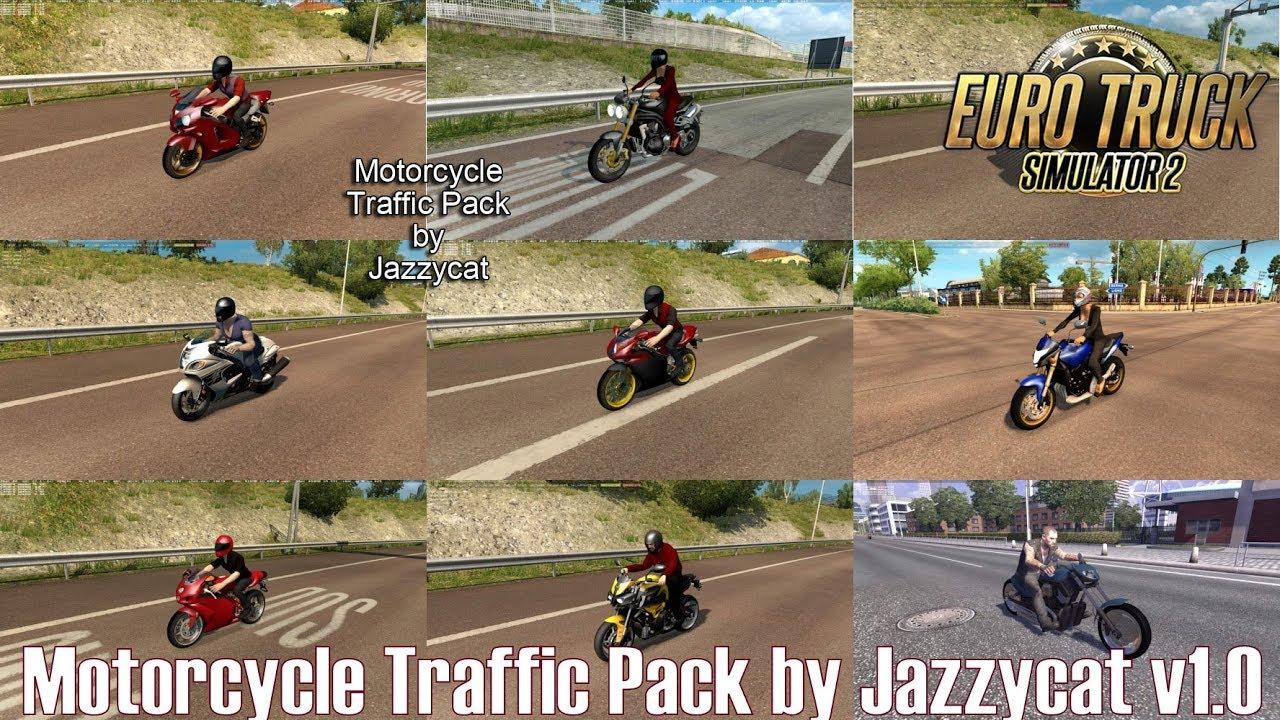 ETS2 v1 31 I Mod ▶️ Motorcycle Traffic Pack by Jazzycat v1 0 [Deutsch/HD]