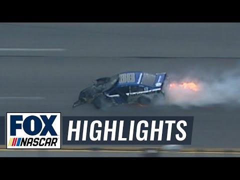 Carl Edwards Wrecks Dale Earnhardt Jr. - Talladega - 2016 NASCAR Sprint Cup