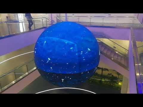 ISE Spheric LED Globe Screen Eye-catching Spherical LED Mesh Display