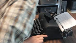 Two schmucks and a typewriter: Royal Quiet Deluxe