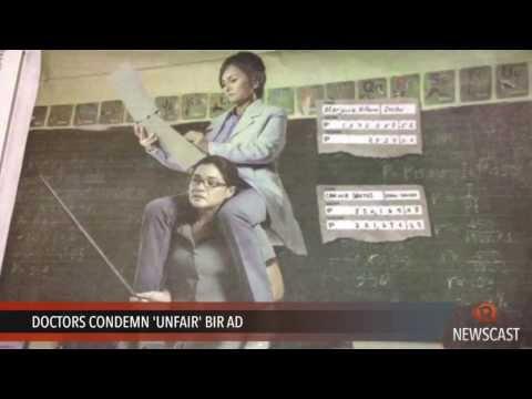 Doctors condemn 'unfair' BIR ad